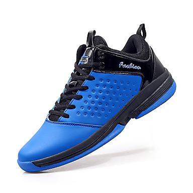 Homme Chaussures Cuir Hiver Printemps Eté Automne Confort Basketball Lacet pour Noir Rouge Bleu