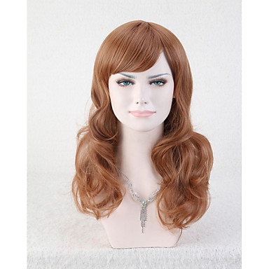 שיער סינטטי פאות גלי ללא מכסה קצר חום