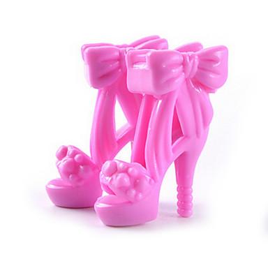 preiswerte Puppen-11-Zoll-Puppenschuhe und Schuhe mit hohen Absätzen Schmuck-Accessoires Mode Fantasie Kinderspiel verkleiden Spielzeug Absatz e