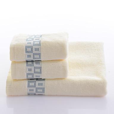 Estilo fresco Conjunto de Toalhas de Banho, Tingido Qualidade superior 100% algodão Tricotado Toalha