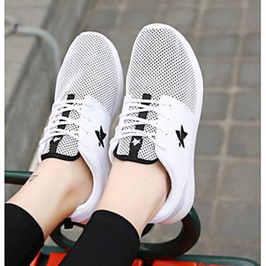 blanco Tul Deportivo Tacón Otoño Casual Blanco Plano Confort 05080339 Primavera Negro Mujer Zapatos Para Negro 5q8awO5