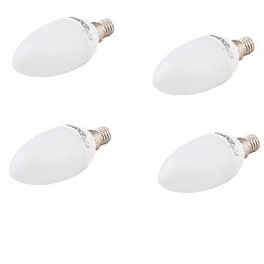 E26/E27 Luzes de LED em Vela A60(A19) 10 leds SMD 5730 Decorativa Branco Quente 320lm 3000K AC 85-265 AC 220-240 AC 100-240 AC 110-130V