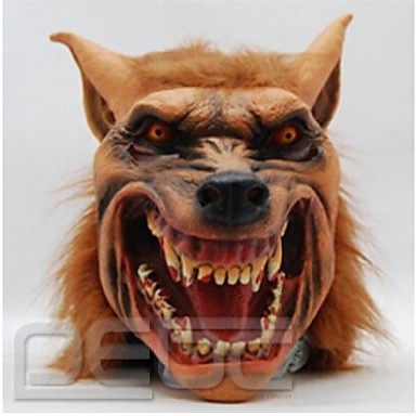 halloween máscara de látex máscara cabeça de lobo assustador animais máscaras de Halloween cosplay traje adulto do partido queda