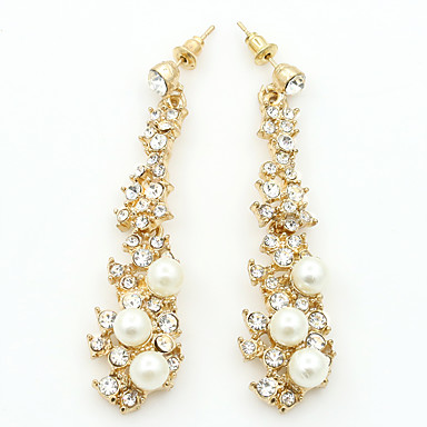 Women's Tassel Drop Earrings - Imitation Pearl, Imitation Diamond Fashion Gold For Daily Date