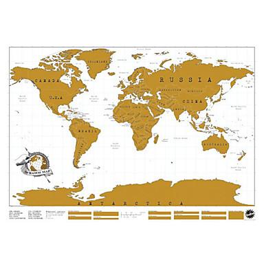 χάρτης Ξυστό του κόσμου αφίσα μηδέν χάρτη