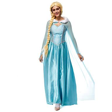 Princesa / Conto de Fadas / Elsa Fantasias de Cosplay Cosplay de Filmes Azul Collant / Pijama Macacão / Capa Dia Das Bruxas / Ano Novo Terylene