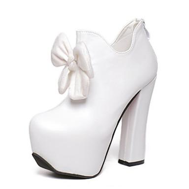 Homme-Habillé Soirée & Evénement-Noir Blanc-Gros Talon-club de Chaussures Light Up Chaussures-Bottes-Polyuréthane