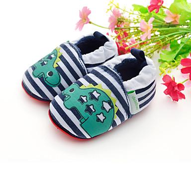 Para Meninos Rasos Primeiros Passos Sapatos de Berço Tecido Primavera Verão Outono Casual Verde Escuro