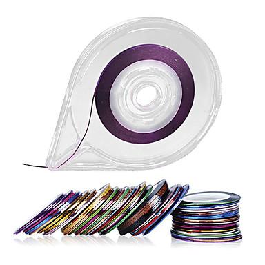 30colors cinta de las rayas del arte del clavo de línea vinilo decorativo - dispensador de cinta de rodillos libres