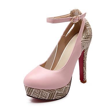Eté Chaussures Chaussures rond Confort Polyuréthane Femme de Plateau Marche Lin Bout Talon Bride Printemps Cheville 05499882 à Talons Aiguille fzqAqIHw