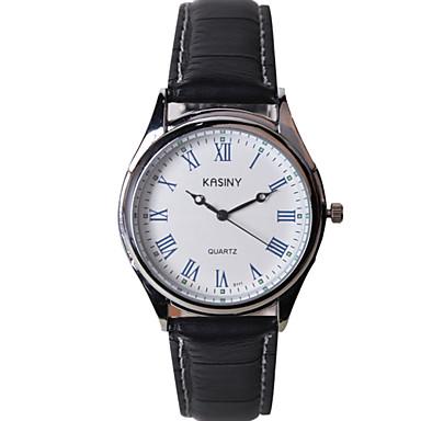 Homens Relógio de Moda Quartzo Relógio Casual Couro Banda Brilhante Pendente Legal Preta Marrom Cores Múltiplas