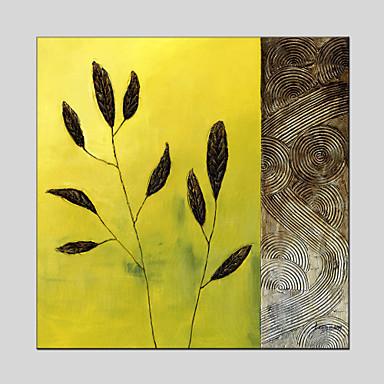 מצויר ביד פרחוני/בוטנימודרני / פסטורלי פנל אחד בד ציור שמן צבוע-Hang For קישוט הבית