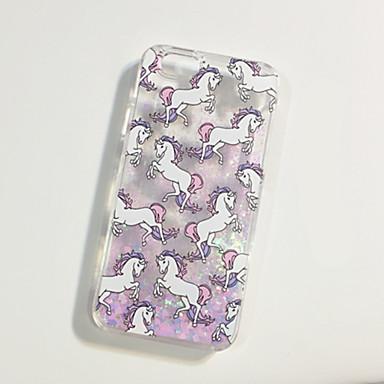 Fashion Fluorescent Glitter Unicorn Design Dynamic Quicksand Glitter PC Hard Cover Case for iPhone 5/5S