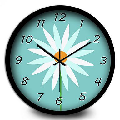 מודרני / עכשווי אחרים שעון קיר,עגול מתכת בבית/ בטבע שָׁעוֹן