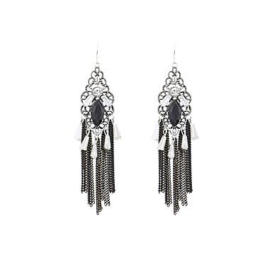 Mulheres Brincos Compridos Luxo Vintage Fofo Festa Trabalho Fashion Adorável Strass Imitações de Diamante Liga Forma Geométrica Jóias