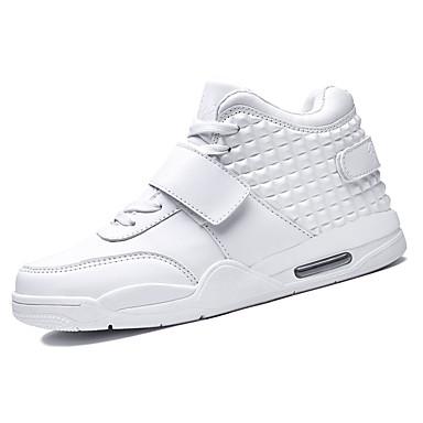 Herren-Sneaker-Lässig-Vlies-Flacher AbsatzSchwarz Rot Weiß