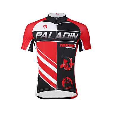 ILPALADINO Homens Manga Curta Camisa para Ciclismo Moto Camisa / Roupas Para Esporte, Secagem Rápida, Resistente Raios Ultravioleta,