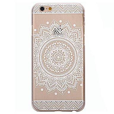 Pouzdro Uyumluluk iPhone 6 iPhone 6 Plus Şeffaf Temalı Arka Kılıf Mandala Sert PC için iPhone 7 Plus iPhone 7 iPhone 6s Plus iPhone 6