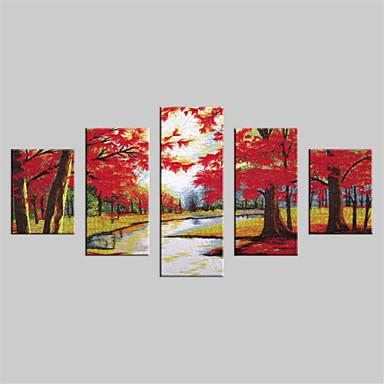 Canvas Set Landskap Moderne,Fem Paneler Lerret Vertikal Print Art Wall Decor