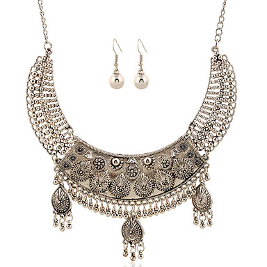 Mulheres Conjunto de jóias - Borla, Europeu Incluir Colar / Brincos Prata Para Casamento / Festa / Diário / Colares