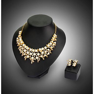Damen Schmuck-Set Ohrringe Halsketten - Party Modisch Weiß Schmuckset Halskette / Ohrringe Für Hochzeit Party
