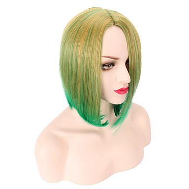 Kvinder Syntetiske parykker Rett Grønn Lys Rosa Ombre-hår costume Parykker