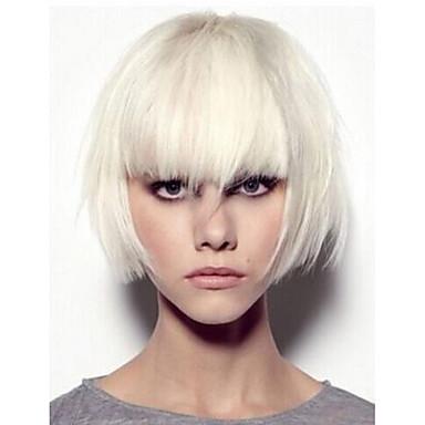 Synthetische Perücken Glatt Dichte Kappenlos Damen Karnevalsperücke Halloween Perücke Synthetische Haare