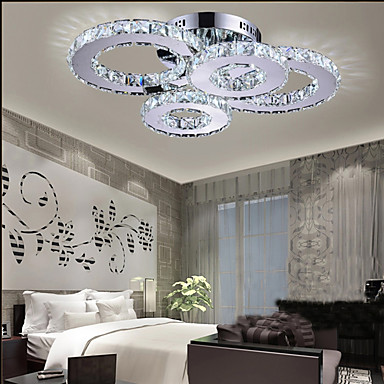 4 Light Flush Mount Ambient Light Crystal Led 110 120v