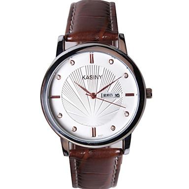Damen Modeuhr Quartz Armbanduhren für den Alltag Leder Band Bettelarmband Schwarz Braun