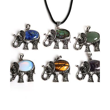 Damen Elefant Anhänger - Modisch Blau / Grün / Schwarz / Braun-Gold Tier Anhänger Für Alltag