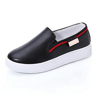 Mulheres Sapatos Couro Envernizado Primavera Verão Outono Conforto Plataforma para Casual Ao ar livre Branco Preto Vermelho