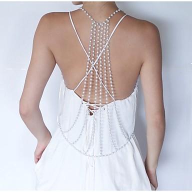 Perla Cinturones metálicos / Para Cuerpo - Perla, Perla Artificial Europeo, Moda Mujer Dorado Joyería Corporal Para Diario / Casual