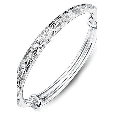 billige Motearmbånd-Dame Armringer Hjerte Kjærlighed damer Mote Til hverdagsbruk fancy Sølv Armbånd Smykker Sølv Til
