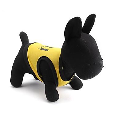Gatos / Cães Camiseta Amarelo / Preto Roupas para Cães Verão Floral / Botânico Da Moda