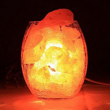 השינה יצירתי אירופית קטנה מנורת קריסטל מלח ההימלאיה דקורטיביים במנורות לילה חם