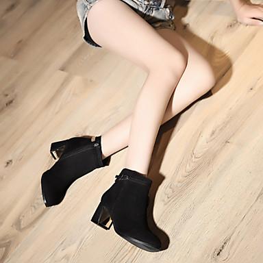 cm Botte Noir Boucle Bottier 16 Chaussures Talon Talons Automne 10 5 05111109 08 Similicuir Chaussures à Femme Bottes Demi Bottine Hiver Tqp66B
