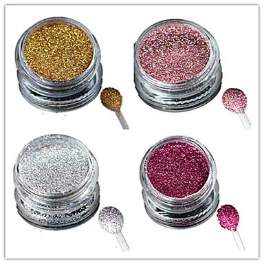 1pcs אבקת אקריליק מסמר נצנצים אבקת גלית פודרה לייזר הולוגרפית Glitter & Sparkle מסמר אמנות עיצוב