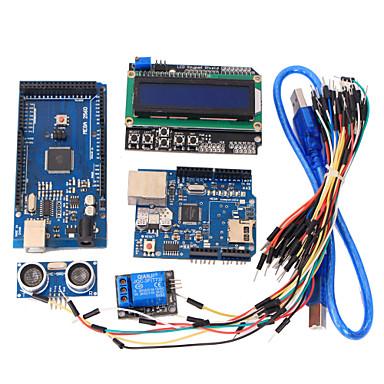 Werkzeuge mega 2560 r3 Board + Ethernet-W5100 + Relais + Steckbrett-Kabel + hc-SR04-Sensor-Kit für Arduino Lernen