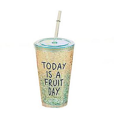 niedlich Sommer Kunststoff Eisbecher mit Stroh (zufällige Farben)