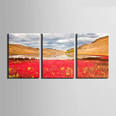 Leinwand-Set Landschaft Europäischer Stil,Drei Paneele Leinwand Vertikal Druck-Kunst Wand Dekoration For Haus Dekoration