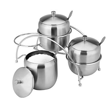 Spice Jar×3 Kreative Küche Gadget / Multi-Funktional / Beste Qualität / Gute Qualität Edelstahl Küchentopf-Set