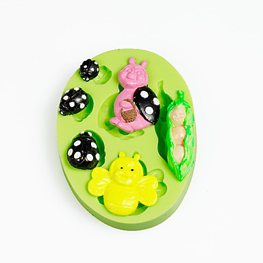 Peapod babybirds סיליקון עובש עבור שוקולד פולימר חימר sugarcraft כלים עוגה קישוטים עובש צבע אקראי