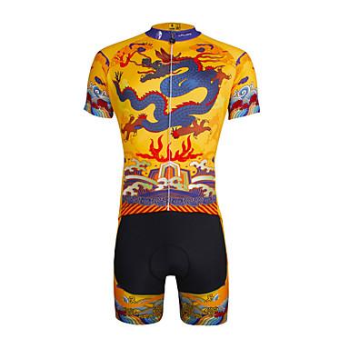 ILPALADINO Camisa com Shorts para Ciclismo Homens Unisexo Manga Curta Moto Camisa/Roupas Para Esporte Shorts Conjuntos de Roupas Secagem