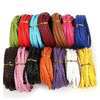 beadia 7mm plat tressé pu cordon en cuir chaîne de corde pour les bijoux bricolage bracelet collier artisanal décision (de 5mts)