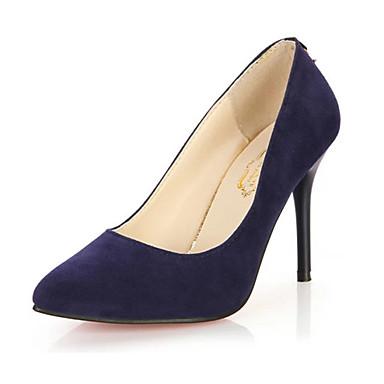 Dames Hoge hakken Fleece Zomer Causaal Stilettohak Zwart Paars Blauw Bordeaux 10 - 12 cm