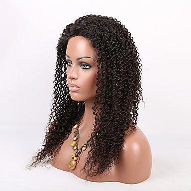 Cheveux humains Full Lace Perruque Kinky Curly 150% Densité 100 % Tissée Main Perruque afro-américaine Ligne de Cheveux Naturelle Court