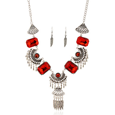 Damen Schmuckset Halskette / Ohrringe Quaste Europäisch Hochzeit Party Alltag Normal Ohrringe Halsketten Modeschmuck