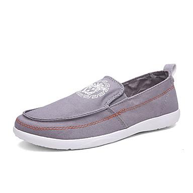 Herren-Loafers & Slip-Ons-Lässig-Stoff-Flacher Absatz-Komfort-