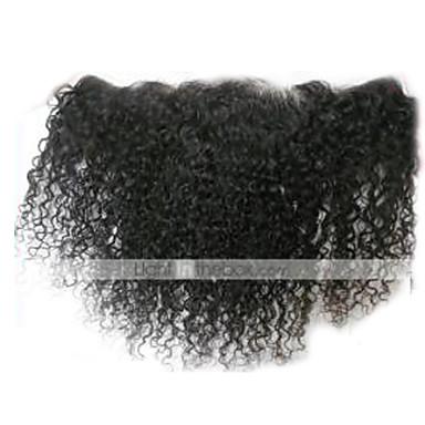 baratos Extensões de Cabelo Natural-Arison Hair Cabelo Peruviano Encaracolado / Clássico / Kinky Curly Parte gratuito / Parte Médio Tela Suiça Cabelo Humano Diário / Crespo Cacheado