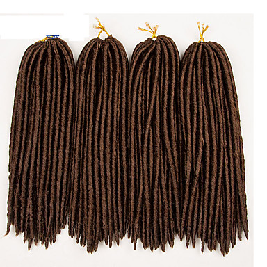 #30 Havana / Heklet dreadlocks Hårforlengelse 14 18 inch Kanekalon 24 Strand 115-125 gram Hair Braids